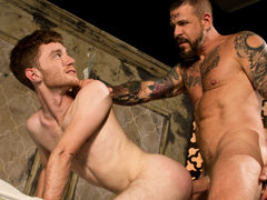 Massive Rocco Steele has written 'MINE' on ginger Seamus O'Reilly's tight ass. Before he fully claims it, Seamus is faced with the task of sucking on Rocco's bulky advisor dick. Rocco feeds his meat to Seamus then conducts him to ride his weenie reverse c mature gay