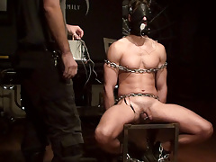 Fixed and twitching with the rise and skim of the electronic fresh the prisoner remains defenseless against Sir's cruelty.  The wartenburg wheel sends a sharp sting of electricity through the boy as it traces his legs, perineum and balls.  Sir puts the bo mature gay