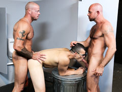 Sean's useful companion Matt has asked him for a big most like to surprise his BF Jason at the club. Matt and Sean come up with the idea of Sean waiting in the bathroom playing with his cock near the glory hole at the club Sean dances at. Matt's BF Jason  mature gay
