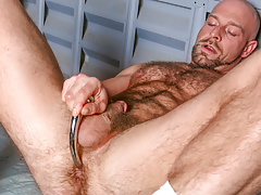 Dirk works over his shaggy strapping body & probes his ass mature gay