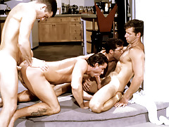 These four randy studs work always other loves a nasty frenzy. mature gay