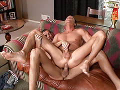 Jason Sparks and Jake Hard have splendid chemistry in this clammy scene.   When Jake gently tongues Jason's butt my whole body quivered with excitement.   This is the kind of sex that you set out on a Saturday night hoping for - enjoy! mature gay