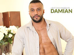 He's cool and he's smooth, but all that goes lacking saying.  He's Damian and sexy bodies are his business.  But in order to make sure a model will hold up, sometimes he's have to put it to the test! As adult modeling agent Damian finishes a phone mature gay
