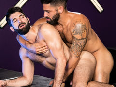 Intense mouth to mouth erupts among Adam Ramzi and Tegan Zayne. Their hands grope per other's as mother gave birth bodies and hard cocks, and their tongues explore per other's mouths. The connection among these two hairy studs shoves per with a lust for m mature gay