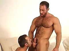 Hunk takes care of his friends dick mature gay