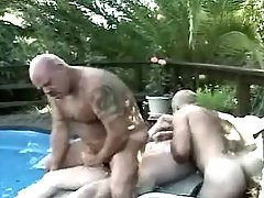 Bear mature gays fuck and jizz outdoor