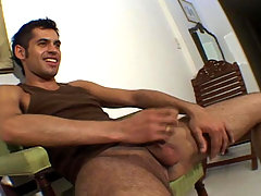 Sexy latino stripping and masturbating untils he cums !