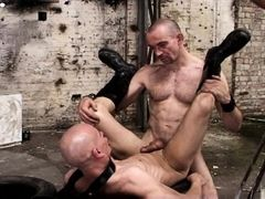 Mike French delivers sex of the harder variety. And Alex Wegert takes it from him hard but with heart. In the old factory hall the two slither and rol mature gay