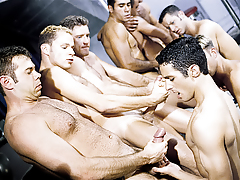 The initiation turns to a sexual free-for-all for everyone! mature gay