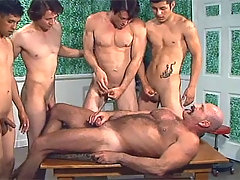 Horny Men Fucking Each Other During Gangbang Session