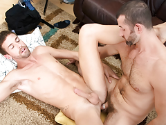 CJ's massive cock is a bargain deal that Jake can't pass up! mature gay
