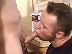 Straight boy gets first oral gaysex